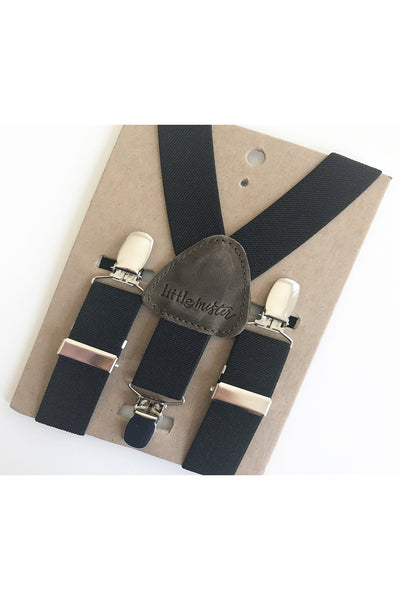 Todd Black Baby & Toddler Suspenders by Little Mister
