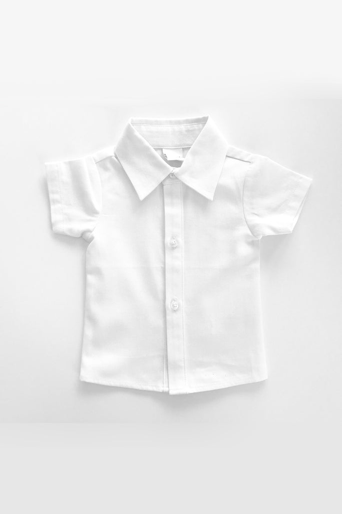 William White Button Up Shirt by Little Mister