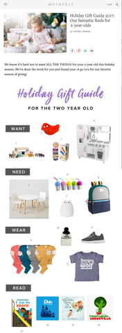 MOTHERLY Holiday Gift Guide - tiny remix