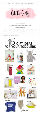 His Little Lady - Toddler Gift Guide - tiny remix