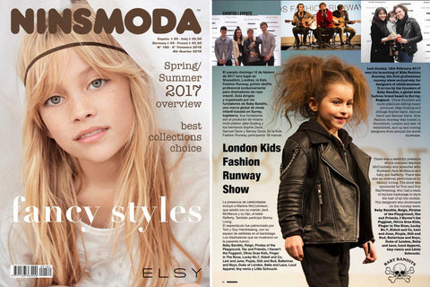 NINSMODA magazine - Kids Fashion Runway feature - tiny remix