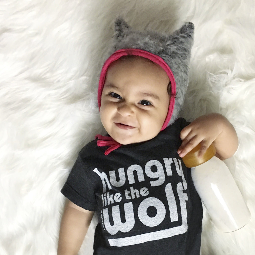 tiny remix - hungry like the wolf tee - black - 6-12M to 4T