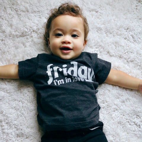 Friday I'm in love tee on Greyson - tiny remix
