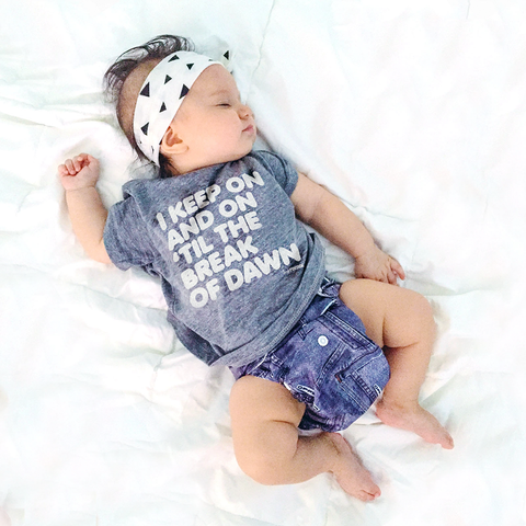 I keep on and on 'til the break of dawn tee on Sienna - tiny remix