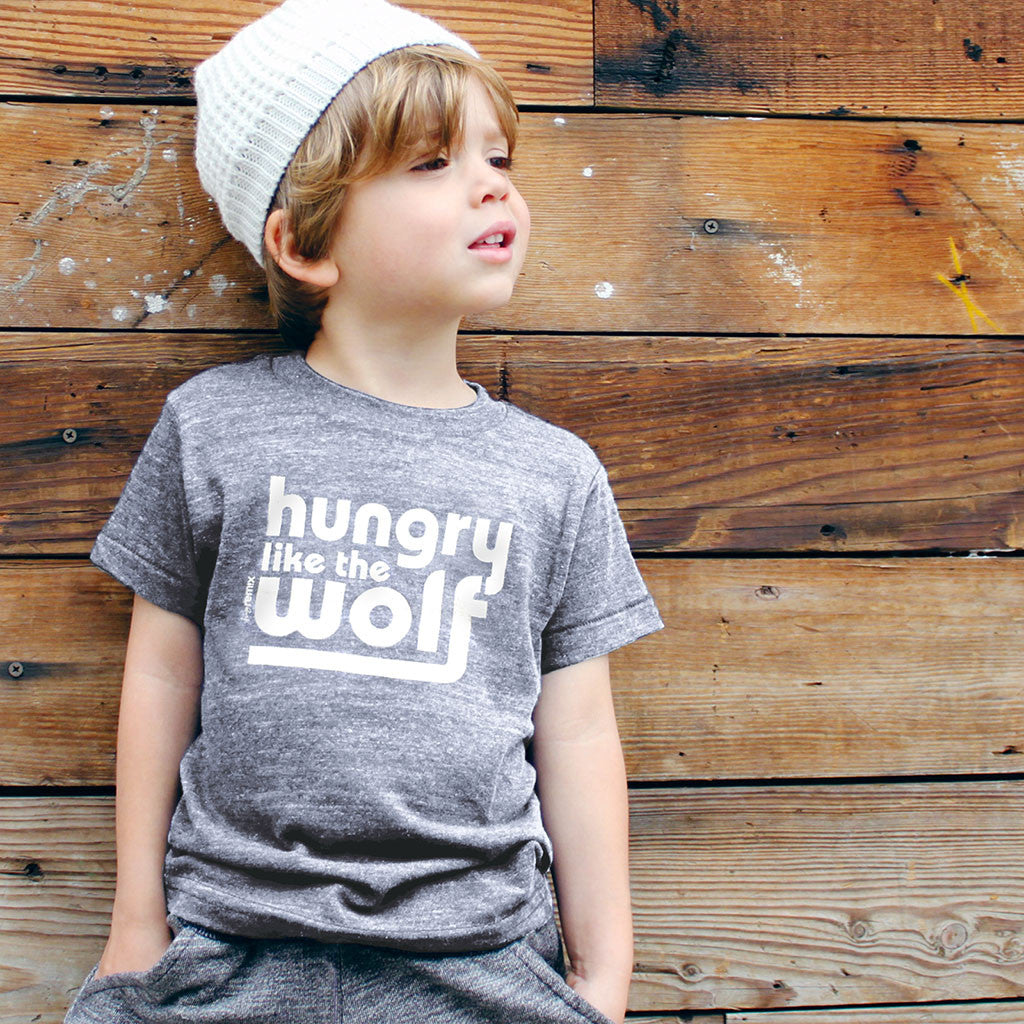 hungry like the wolf - grey tee - vol.1 collection - tiny remix