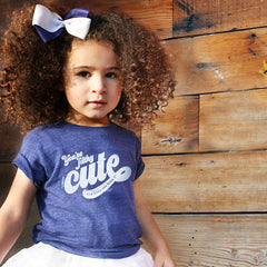 you're filthy cute and baby you know it - indigo tee - vol.1 collection - tiny remix