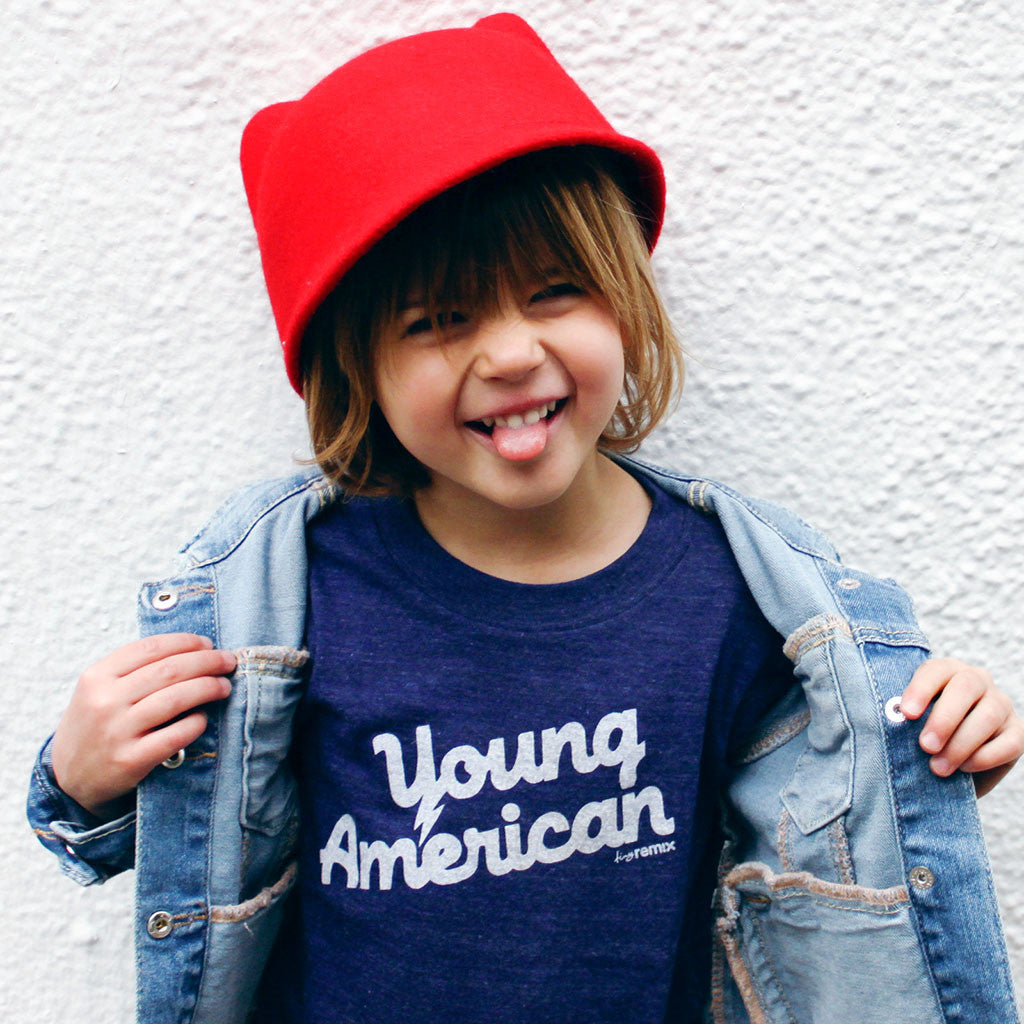 young american - indigo tee - vol.1 collection - tiny remix