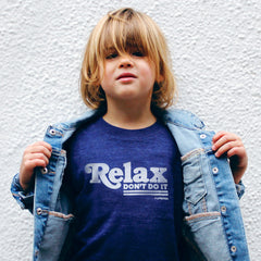 relax don't do it - indigo tee - vol.1 collection - tiny remix