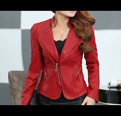 Silhouette Style Red Wine Custom Leather Jacket For Women