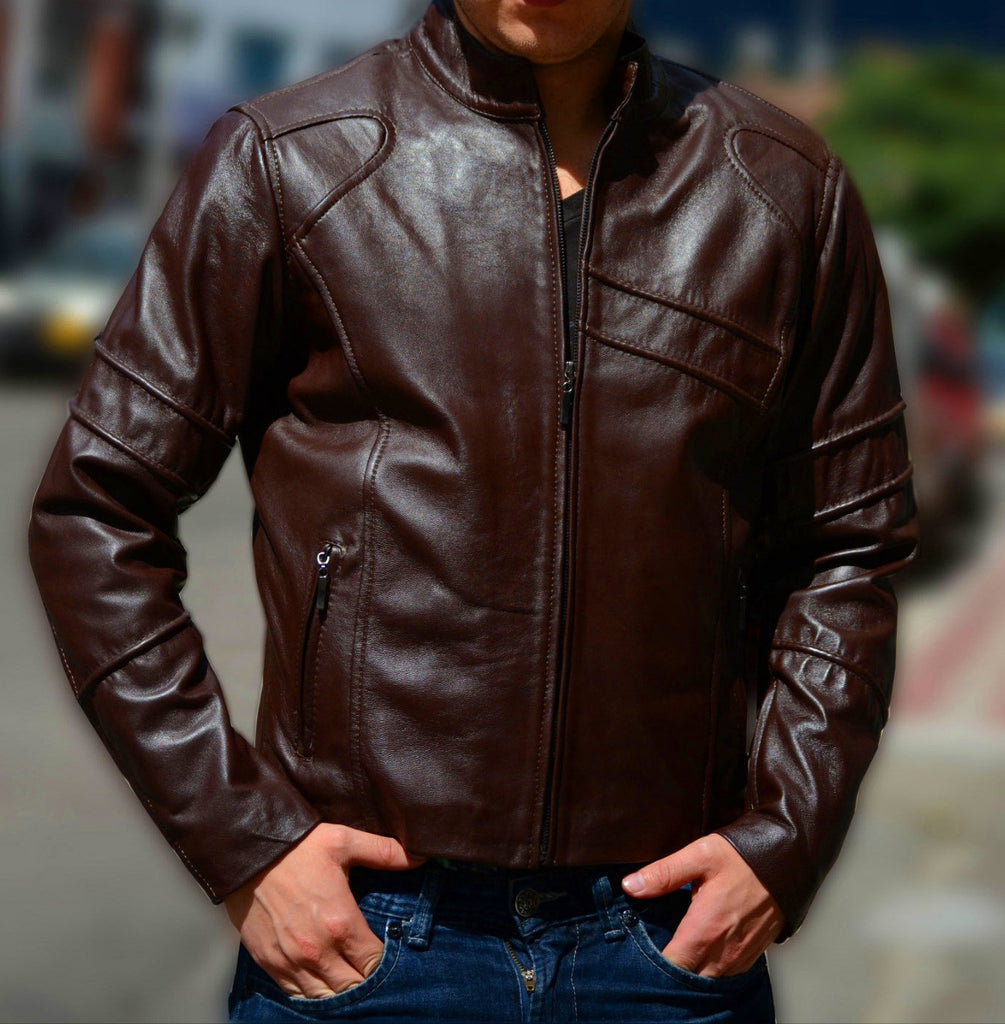 Leather Jackets For Men - Cowhide Leather - Zippered Jackets