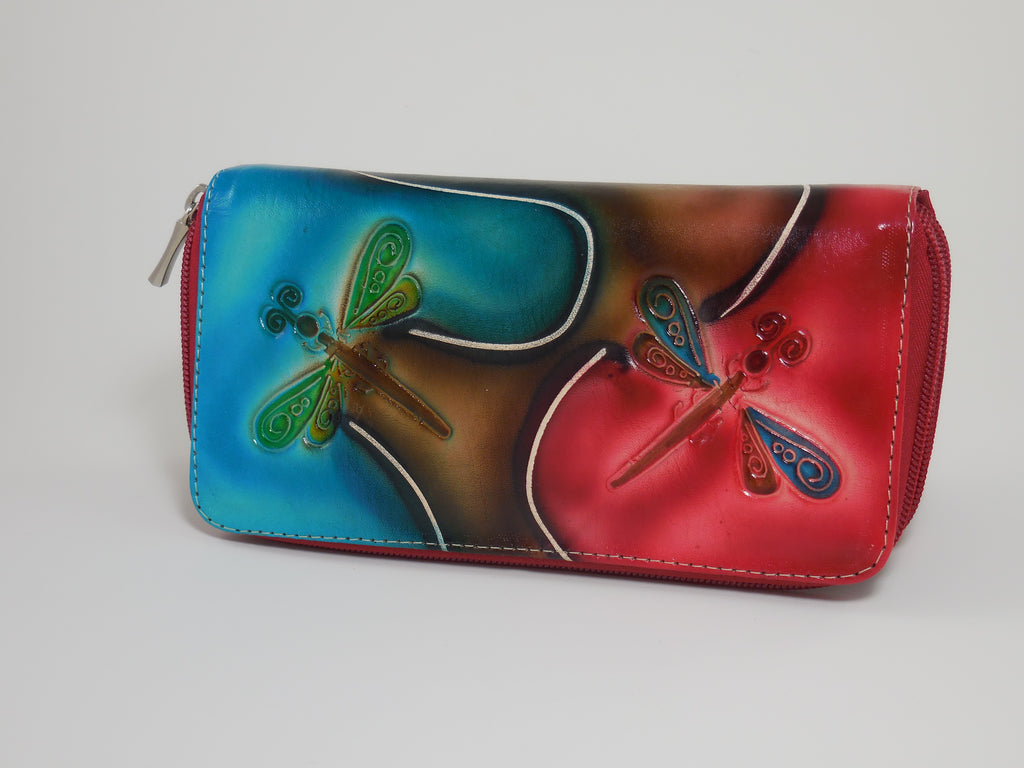 Leather Wallets Ladies Multi Pocket Zipper Pull
