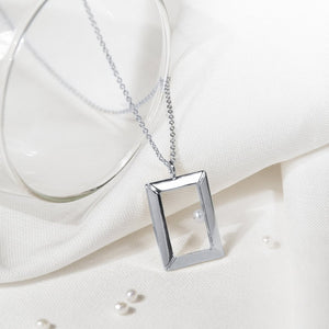 Petite Oblong Frame Necklace