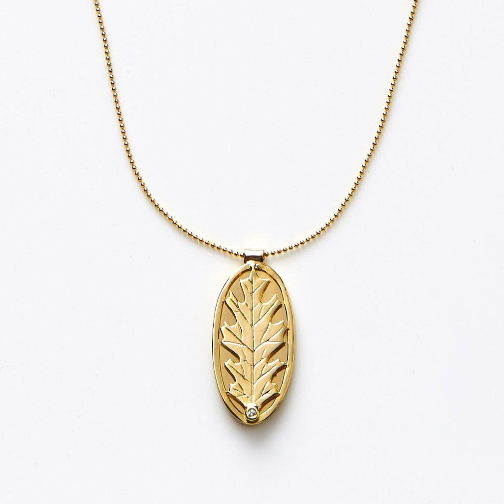【10】Oak Leaf Necklace