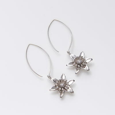 Lily Blossom Wire Earrings