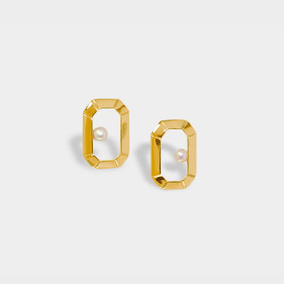 Classic Emerald Frame Earrings