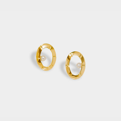 Classic Ellipse Frame Earrings