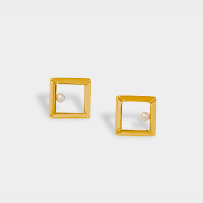 Classic Square Frame Earrings
