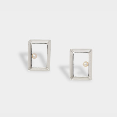 Classic Oblong Frame Earrings
