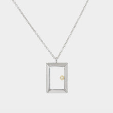 Load image into Gallery viewer, Petite Oblong Frame Necklace