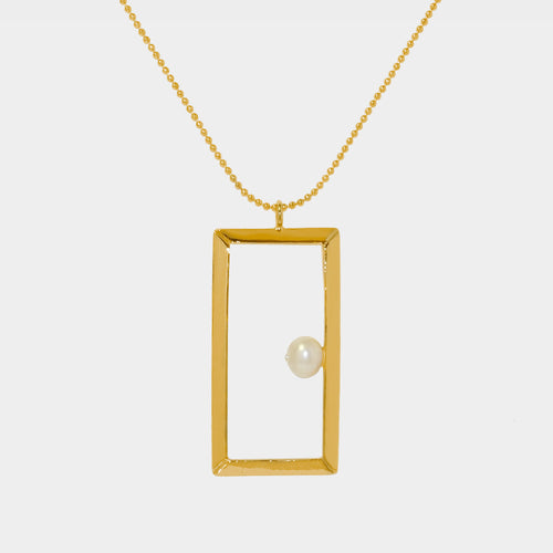 Classic Oblong Frame Necklace