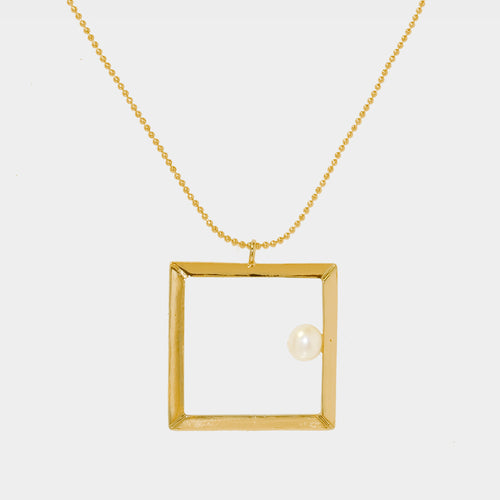 Classic Square Frame Necklace
