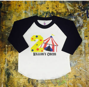 Birthday Circus Theme Party Shirt