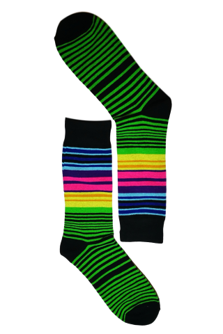 Green Pin Stripe Colour Sock