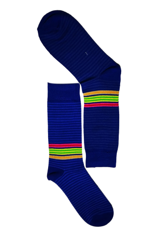 Blue Pin Stripe Sock
