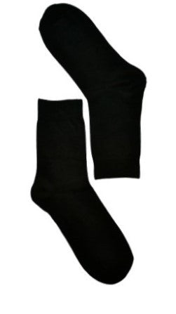 Black Plain Sock