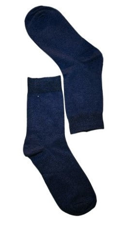 Blue Plain Sock