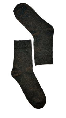Dark Grey Plain Sock