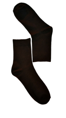 Brown Plain Sock