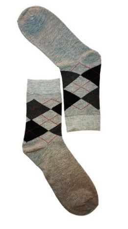 Argyle mens socks