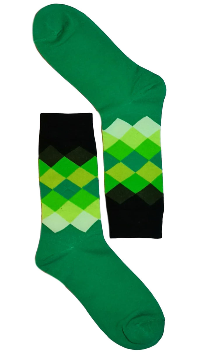 Green/Black Diamond Sock
