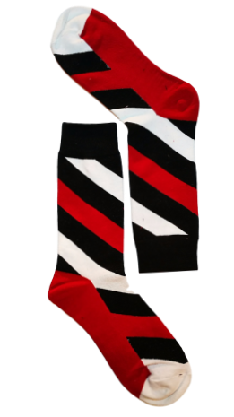 Red/White Stripe Sock