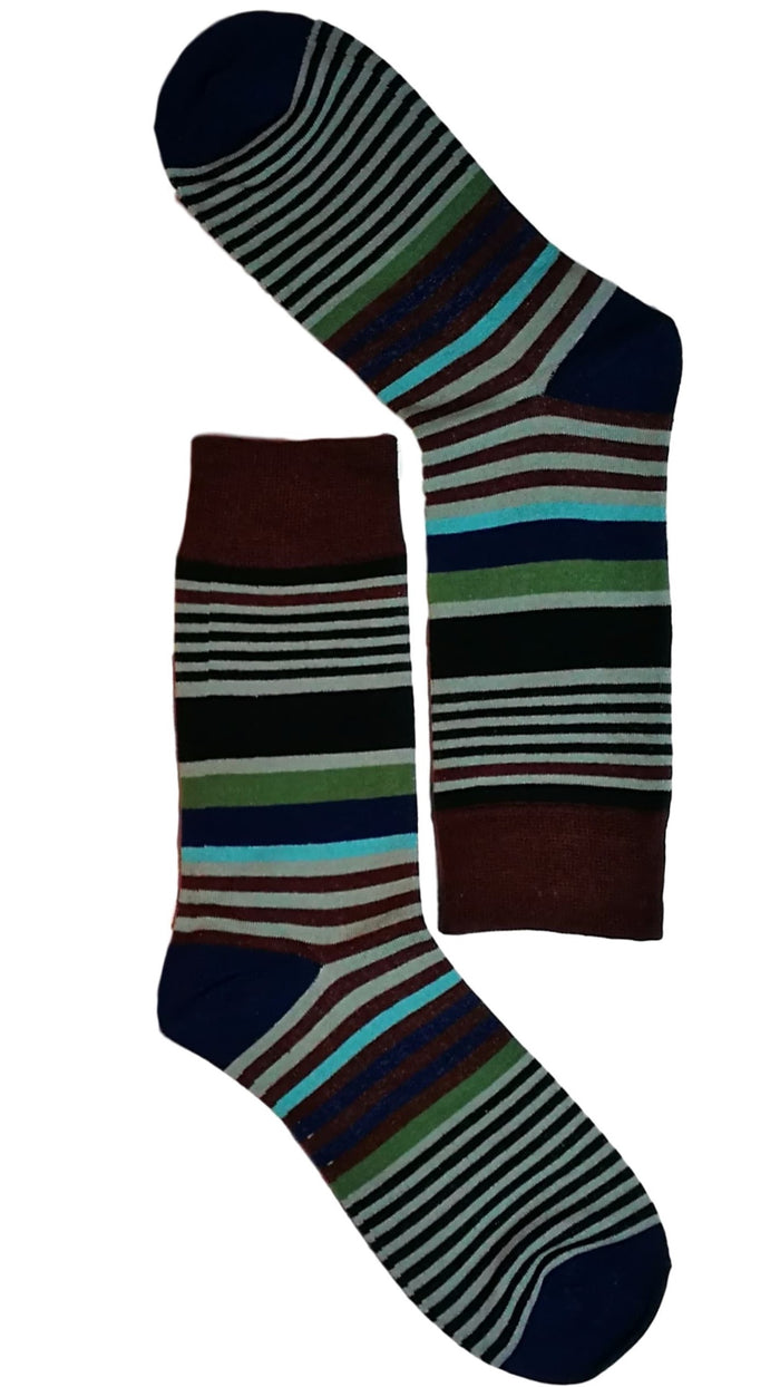 Fine Stripe Multi Coloured Sock