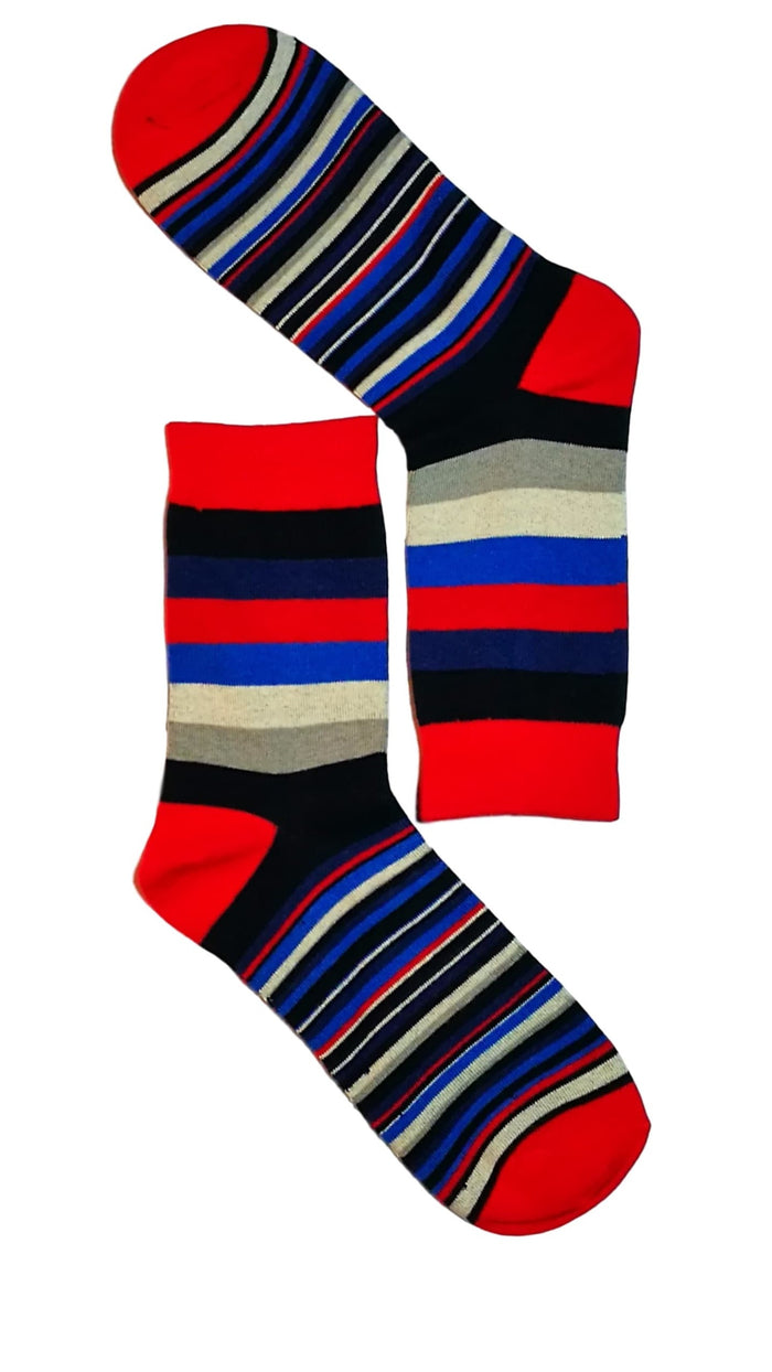 Red Toe Stripe Sock