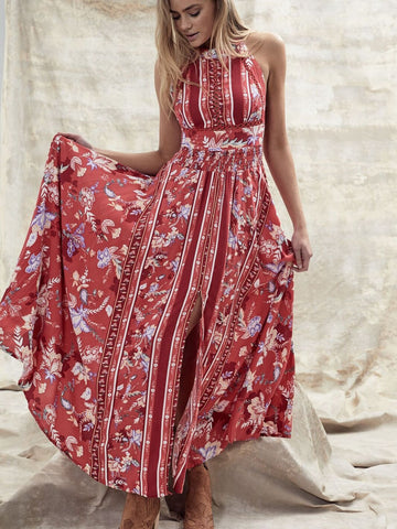 Sia Bella Endless Summer Maxi Dress - Red