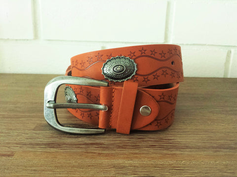 Concho Star Struck Belt - Tan