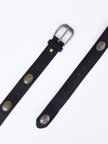 Concho Star Struck Belt - Black