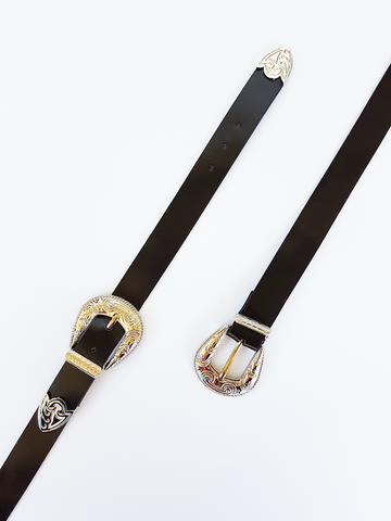 Focus Double Buckle Belt - Black