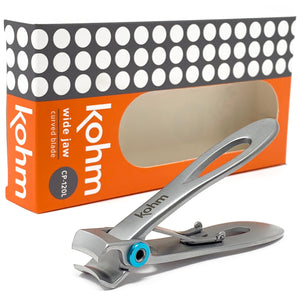 Kohm CP-120L - Extra Wide Jaw, Alloy Nail Clipper for Thick Nails