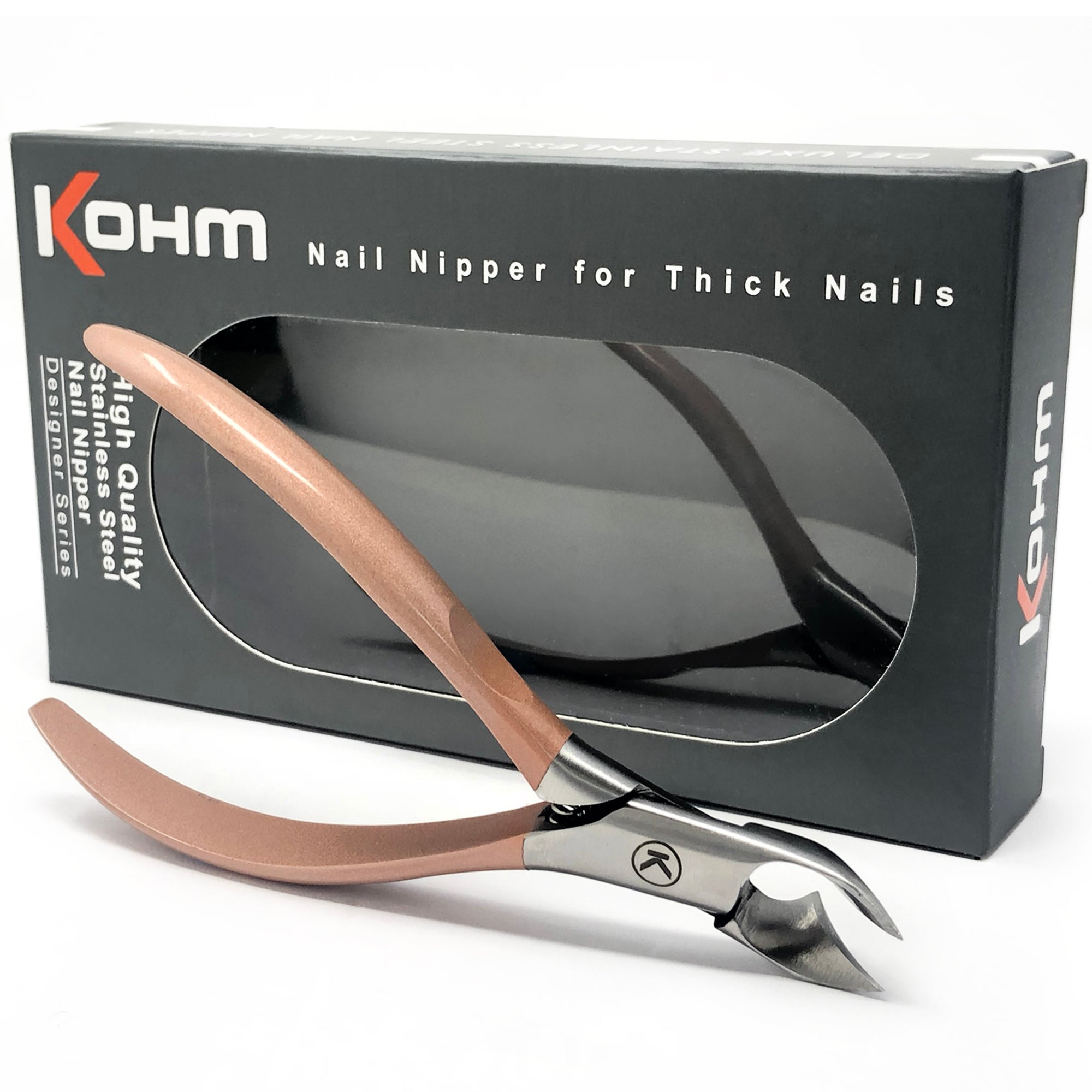 Kohm WHS-850 - Rose Gold Toenail Nipper for Thick Nails