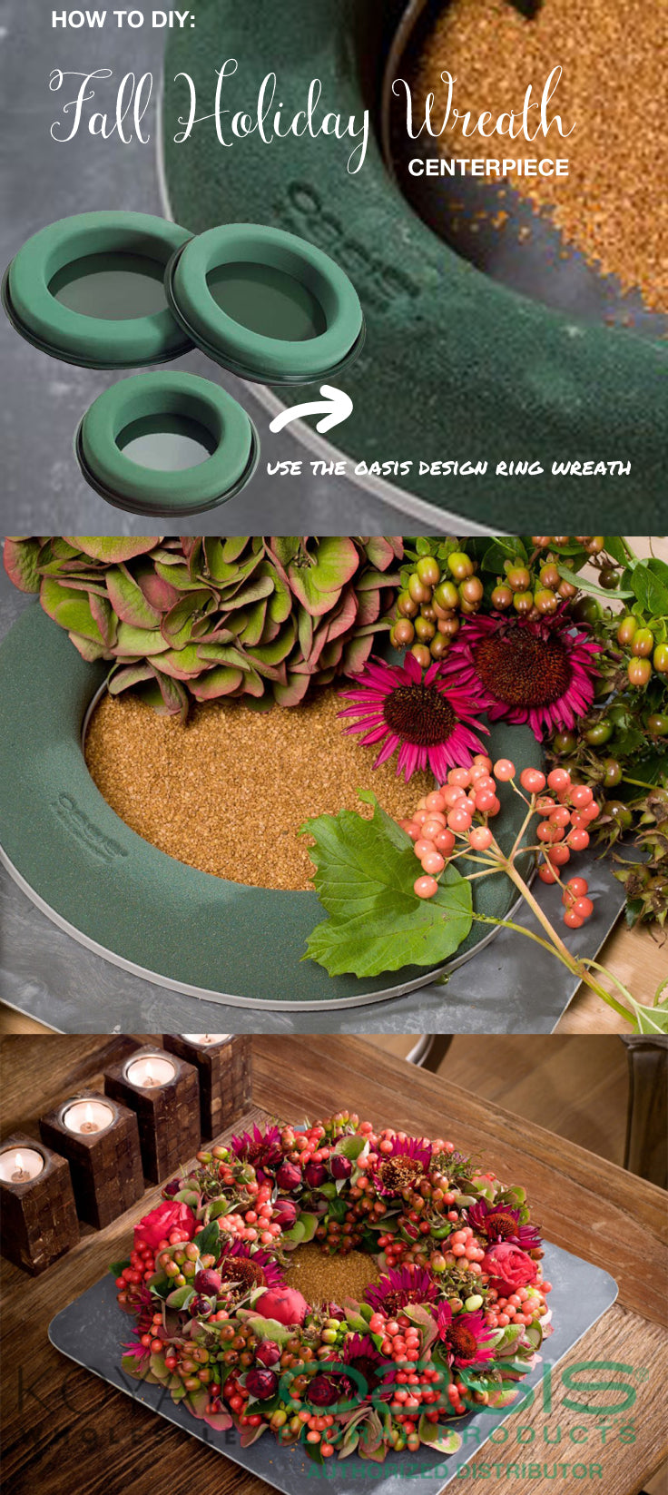 DIY Thanksgiving Centerpiece Wreath
