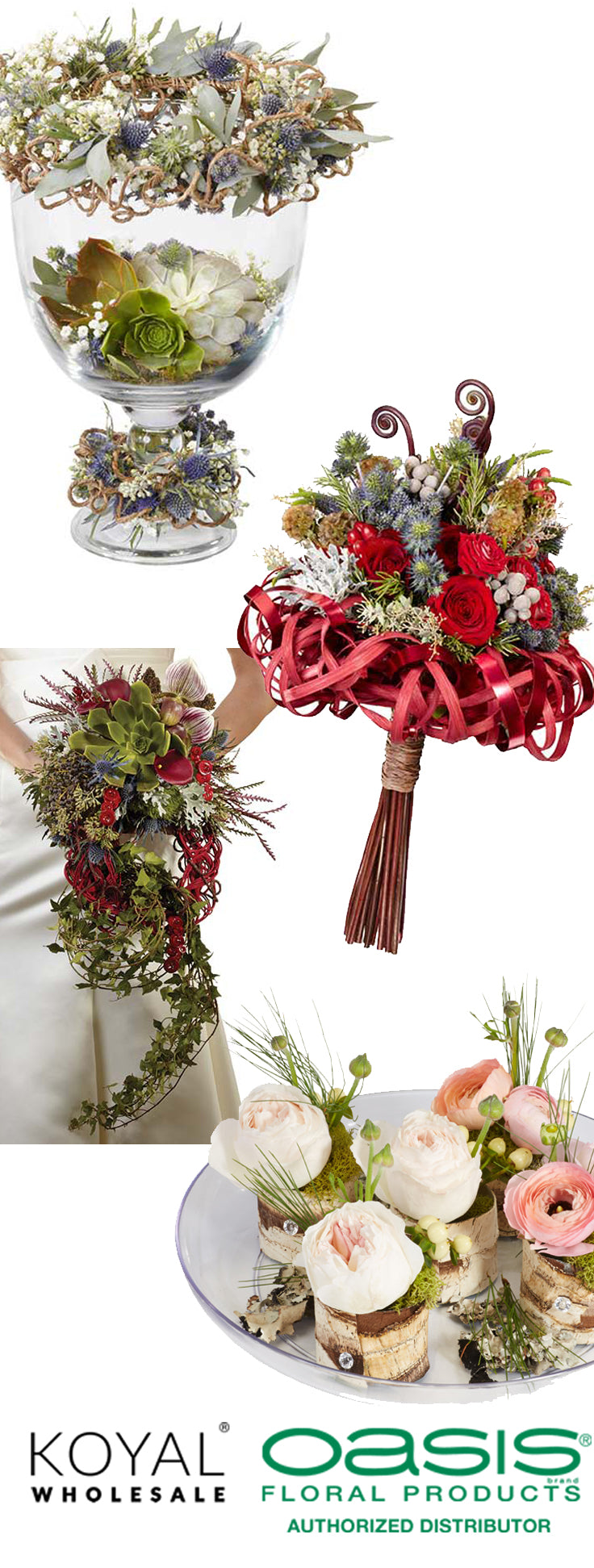 DIY rustic wedding ideas for bouquets and centerpieces