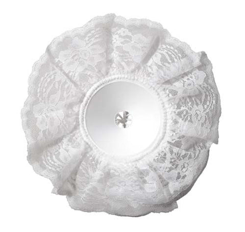 LOMEY White Lace Bouquet Collar