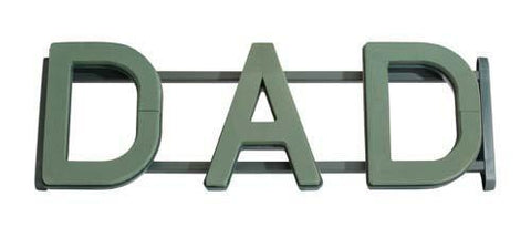 OASIS Floral Foam Frame Letters Wreath, Dad