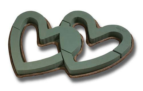 OASIS Mache Open Double Heart Floral Foam
