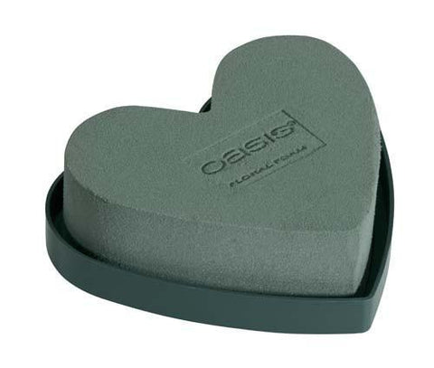 "5"" Solid OASIS Mini Hearts-Floral Foam Shapes-Smithers-Oasis-12-"