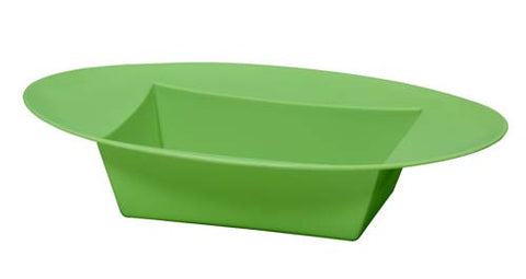 ESSENTIALS Oval Bowl Vase-Plastic Flower Vases-Smithers-Oasis-Apple Green-24-